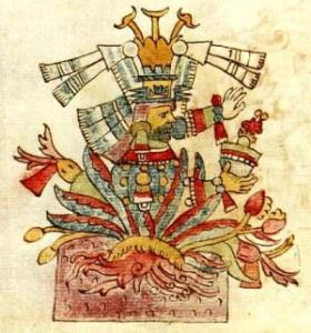 Mayahuel, the Aztec goddess of the maguey. From the Rios Codex via Wikimedia Commons.