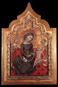 """""""Madonna dell'Umiltà"""", Vitale da Bologna, c. 1353."""