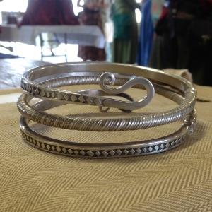 Viking Silver Spiral Armring Smithing by Duke Kenric aet Essex
