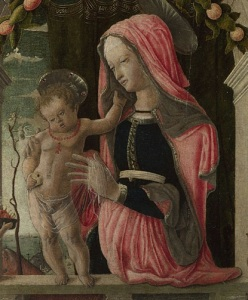 Figure 5. Giorgio Schiavone. Detail of The Virgin and Child. 1456-60. London, The National Gallery.