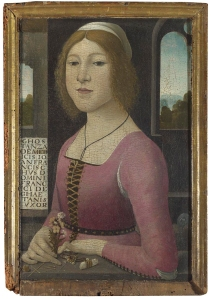 Figure 9. Style of Domenico Ghirlandaio. Costanza Caetani. 1480-90, London, The National Gallery.