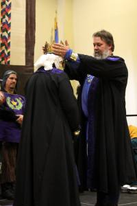 Ivan crowns Mathilde Photo by Cateline La Broderesse