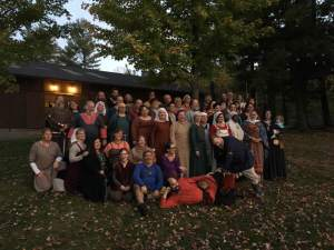 The cast of performers for Njal's Saga. Photo courtesy of Myra Hope Eskridge.