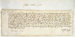 Letter from Margery Brewes to John Paston, 1477, Add MS 43490. Image courtesy The British Library.