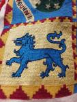 An Eastern Tyger, stitched by Baroness Jeanne, to fill the corner of a border.