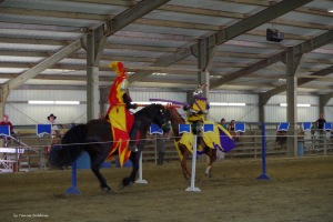 Mistress Eleanor Fitzpatrick and Master Rhys Terafan Greydragon Joust at EK50