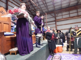 King Wilhelm and Queen Vienna address the Combatants at Crown Tourney