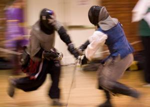 two fencers meet in the lists at Birka