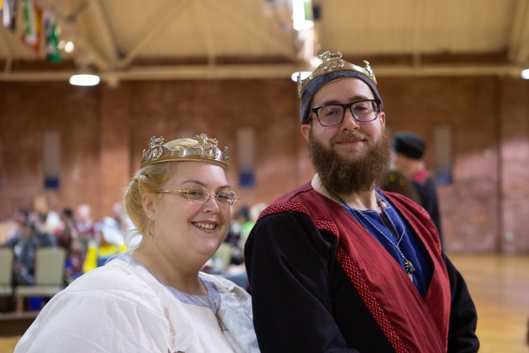 Prince Ozurr and Princess Fortune at Market Day at Birka