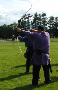 Duncan at Carolingian Archery Championship, July 2004