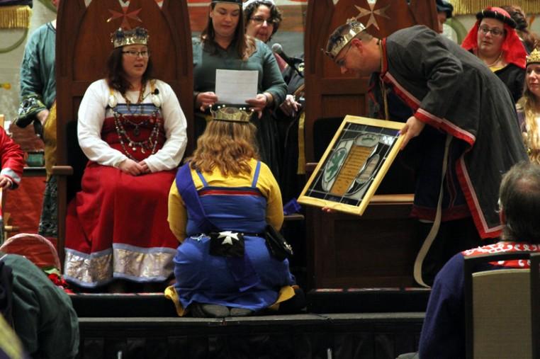 Katerina de la Bere receives her Court Barony