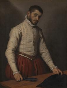 Giovanni Battista Moroni, 1520/4 - 1579. The Tailor ('Il Tagliapanni'). 1565-70. Inventory #NG697