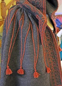 A riding cloak made in the Spanish style by the author. Photo courtesy of Stephanie Miklacic.